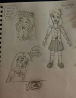 Karin Moore childhood sketches 2 by Bella-Who-1