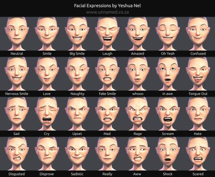 Facial Expressions by YeshuaNel