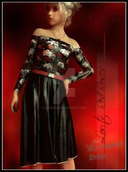 LOR TX Red Roses for AQ Summer Fashion Dress