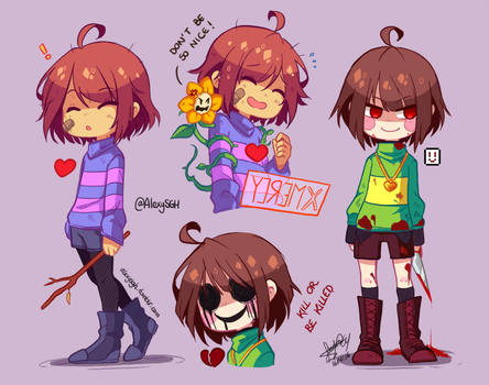 Undertale doodles 01 by SandraGH