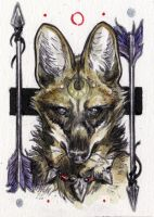 maned wolf aceo by Kaos-Nest