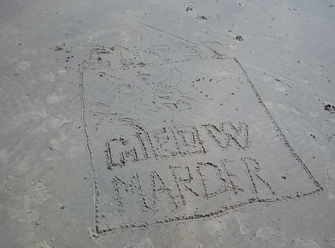 Holiday quick Beach-sand-draw 2. try by marderchen