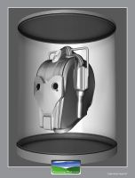 Cyberman Head by FarawayPictures