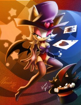 Rouge the bat and shadow by nancher