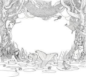 CD cover surround by bluefooted