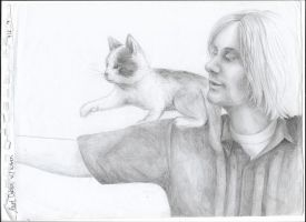 Kurt Cobain with a Kitty / Sketchpad 2017 by Kitsune---TheWildFox