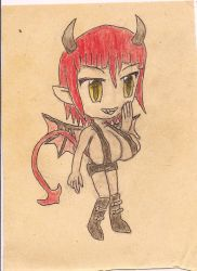 chibi demon girl by JofDragon