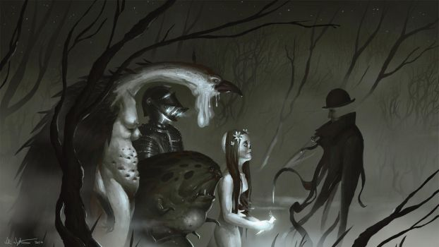 The Residents of Nightmare Lane by Vablo