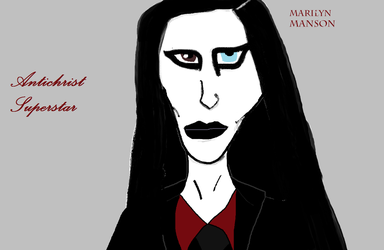 Antichrist Superstar MS Paint by IzzyJarvisRaven