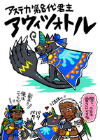 This is Ahuizotl the eighth Aztec emperor!! by nosuku-k