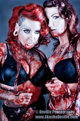 Two Girls One Gut_ by DevillePhotography