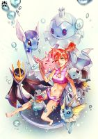 Misty and water types by E-X-P-I-E