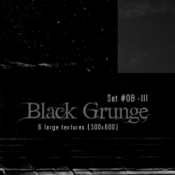 Large Textures - Set 008 - Black Grunge (500x600) by justalittlefaith