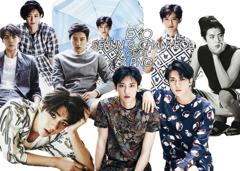 Chanyeol and Sehun (EXO) [PNG PACK] by ByMadHatter