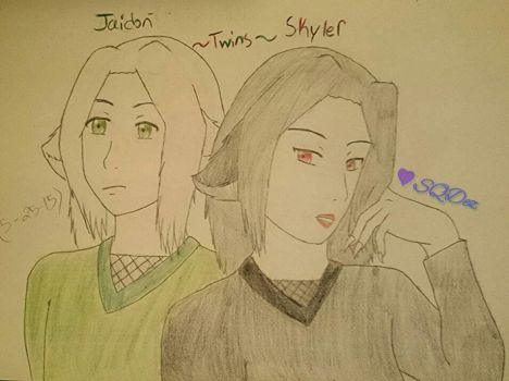 Jaidon and Skyler of the Wolf Clan by Lady0Arachne