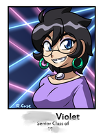 Violet high school photo by rongs1234