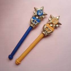 Sailor Mercury and Sailor Venus Star Henshin Pens by bellakenobi