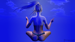 Blue Meditation by CorrennStormcrow