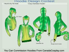 Crazy Chameleon Hoodie by A-R-T-3-M-I-S