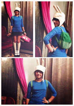 Fionna the Human cosplay - WIP by xpomverte