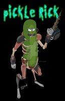 PICKLE RICK FAN ART by jey2dworld