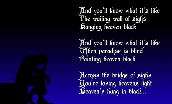 Heaven's Hung in Black by rubenick