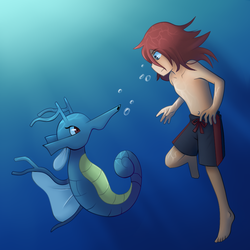 Diving with my Lady by EifiHanaki