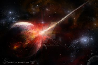 Space Collision by CaroRichard