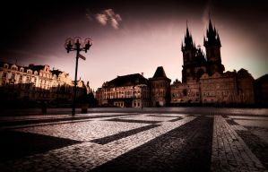 Prague at dusk by almiller