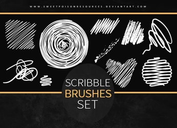Scribble Brushes | Photoshop by sweetpoisonresources
