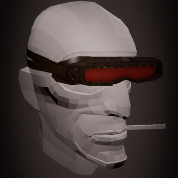 Futuristic glasses for the Spy of Team Fortress 2 by SdZLinko