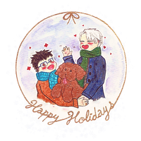 Happy Holidays [Yoi] - Transparent by WildpawShecat