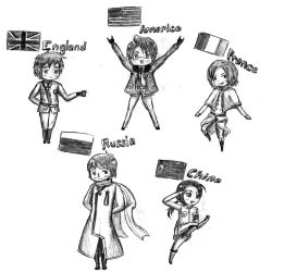 Hetalia: Allied Forces by PinkyMaggie