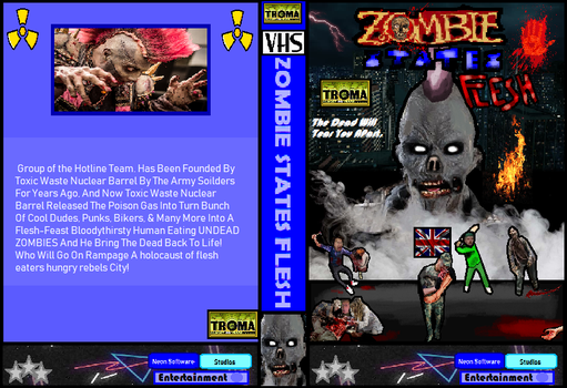 Zombie States Flesh VHS Cover by NeonSofwareStudios