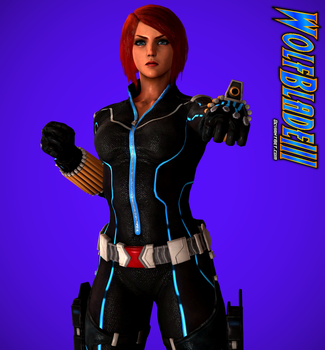 The Fearsome Black Widow by WOLFBLADE111