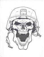 ARMY SKULL by mr-ss