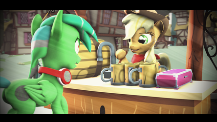 Cider at will (SFM PONY : Alan VS RD PART 4) by Lux-The-Pegasus
