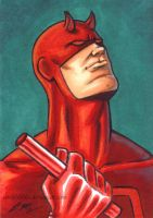 Daredevil ACEO by em-scribbles