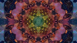Rainbow Kaleidoscope Fractal Mandala by WelshPixie