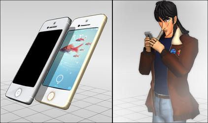 [MMD] iPhone 5 and iPhone5s DL by Winter-Leaves