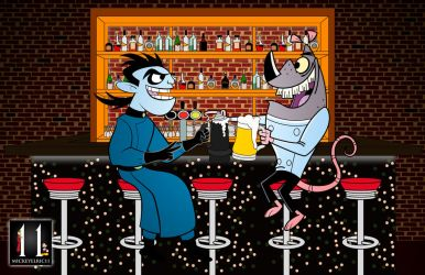 Two Supervillains Walk into a Bar by mickeyelric11