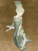 Woman of the waves by jinxedwood