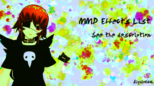 MMD Effects List - Update 02 by Alquimica