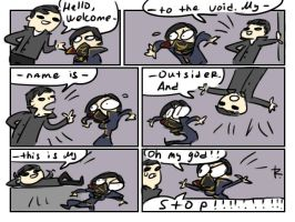 dishonored 2, doodles 19 by Ayej