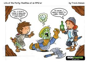 Potions, clerics and labels... rpg comic by travisJhanson