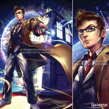 Doctor Who - 10th Doctor David Tennant by yanimator
