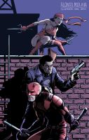 Daredevil, Punisher and Elektra by alonsomolina1985