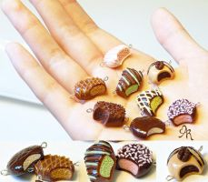 Miniature Polymer Clay Chocolates II by AgentRose
