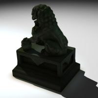 lion_lo_poly_2 by phongshader