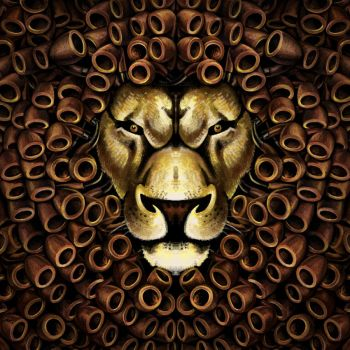 Lion with Pipes by goatart